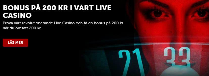 betsafe bonus i live casinot